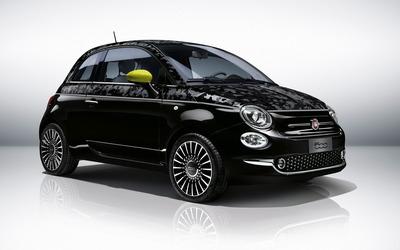 2016 Black Fiat 500 wallpaper