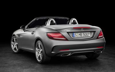 2016 Mercedes-Benz SLC 300 back side view wallpaper