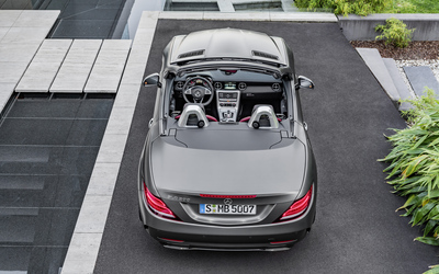 2016 Mercedes-Benz SLC 300 back view from above wallpaper