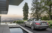 2016 Mercedes-Benz SLC 300 by the pool wallpaper 3840x2160 jpg