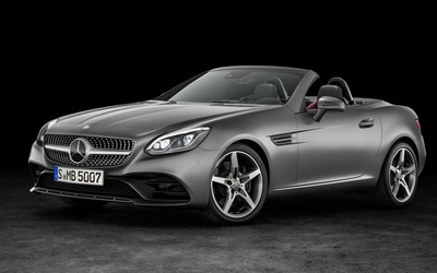 2016 Mercedes-Benz SLC 300 front side view wallpaper