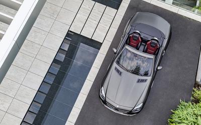2016 Mercedes-Benz SLC 300 seen from above wallpaper