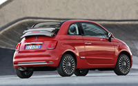 2016 Red Fiat 500 back side view wallpaper 2560x1600 jpg