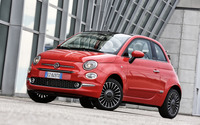 2016 Red Fiat 500 parked wallpaper 2560x1600 jpg