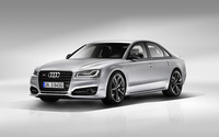 2016 Silver Audi S8 front side view wallpaper 2560x1600 jpg