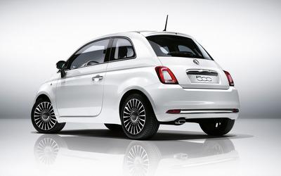 2016 White Fiat 500 back side view wallpaper