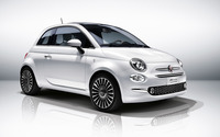 2016 White Fiat 500 front side view wallpaper 2560x1600 jpg