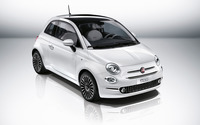 2016 White Fiat 500 front side view from top wallpaper 2560x1600 jpg