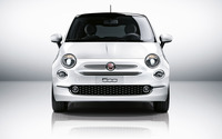 2016 White Fiat 500 front view wallpaper 2560x1600 jpg