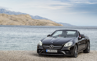 2017 Mercedes-AMG SLC 43 on the lake side wallpaper 3840x2160 jpg