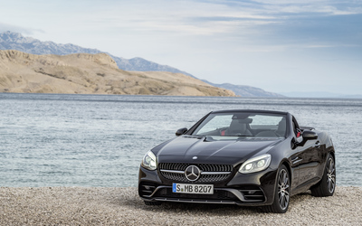 2017 Mercedes-AMG SLC 43 on the lake side wallpaper