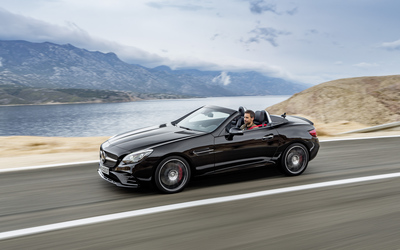 2017 Mercedes-AMG SLC 43 passing by the lake wallpaper