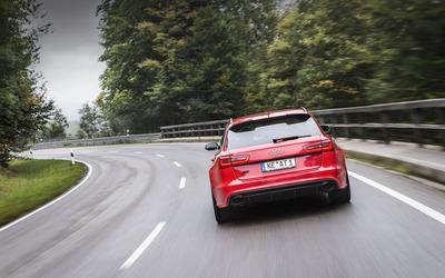ABT Audi RS 6 quattro back view wallpaper