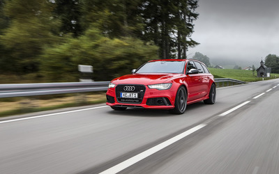 ABT Red Audi RS 6 quattro wallpaper