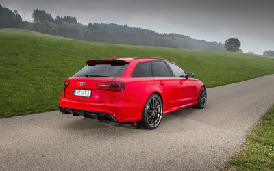 ABT Red Audi RS 6 quattro back side view Wallpaper