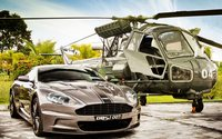 Aston Martin DBS & Westland Scout wallpaper 2560x1440 jpg