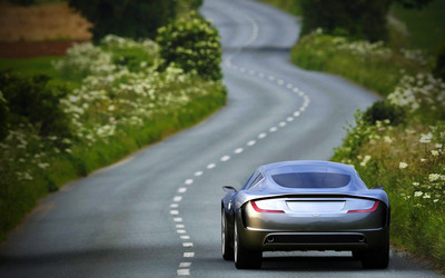 Aston Martin Gauntlet on the road wallpaper