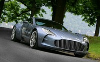 Aston Martin One-77 on the road wallpaper 1920x1200 jpg