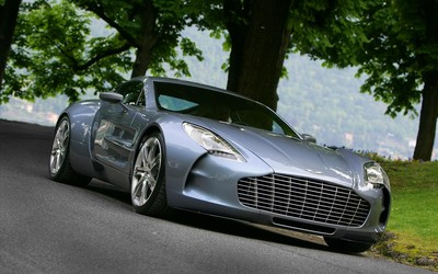 Aston Martin One-77 on the road wallpaper