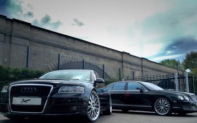 Audi A8 and Bentley Continental wallpaper