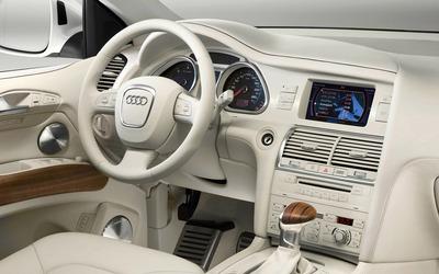 Audi Q7 white leather interior wallpaper