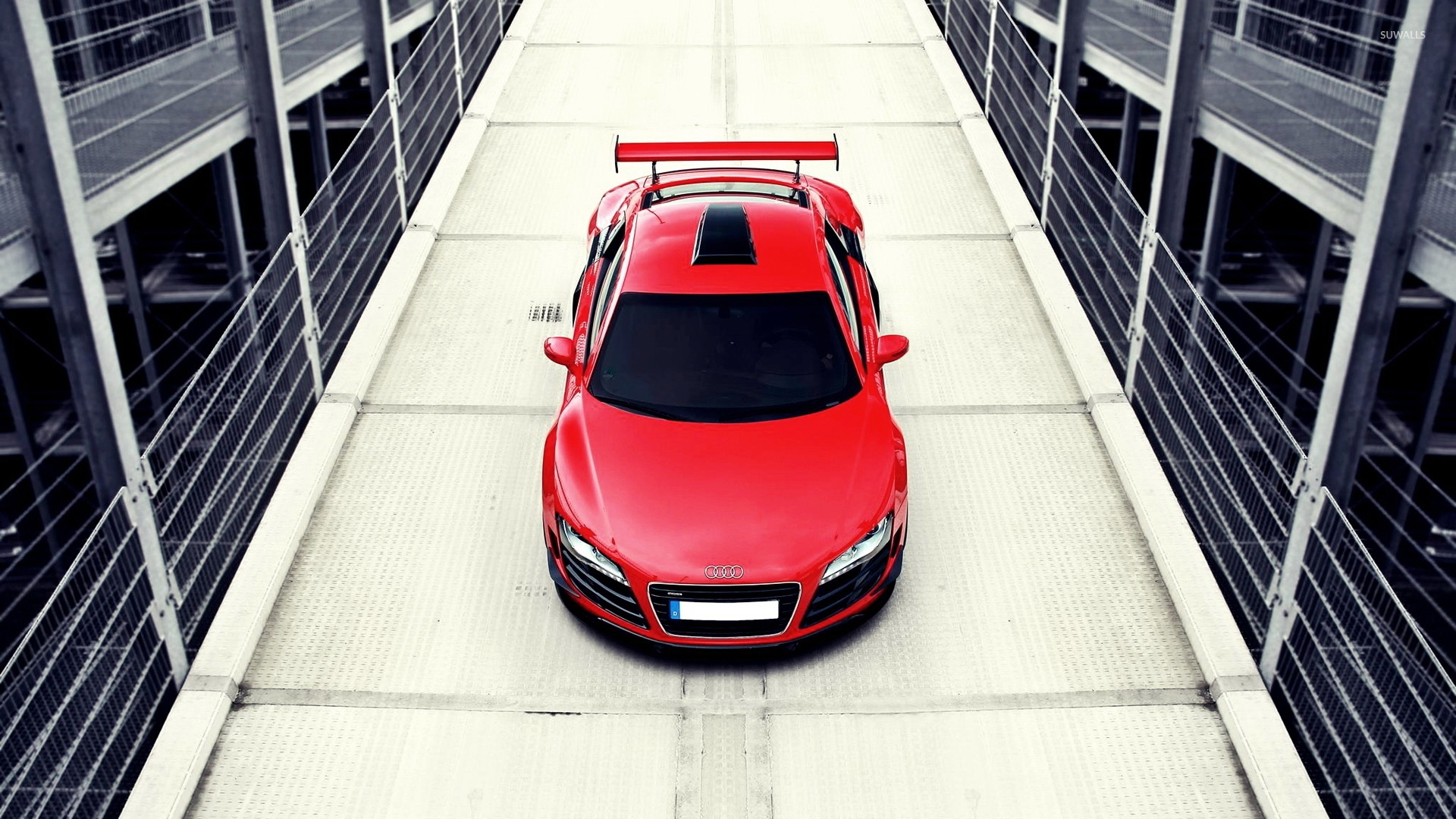 Audi R8 Top View Wallpaper