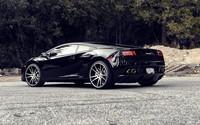Back side view of a black Lamborghini Gallardo wallpaper 1920x1080 jpg