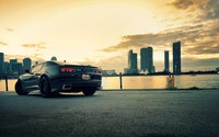 Back side view of a Chevrolet Camaro at sunset wallpaper 1920x1080 jpg