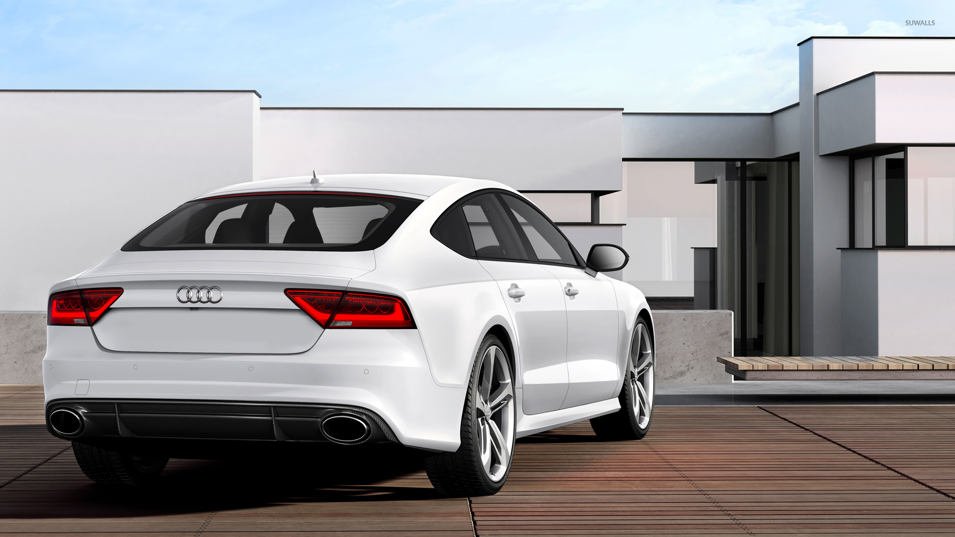 Back View Of A 2014 Audi Rs7 Sportback Wallpaper Car Wallpapers 53109