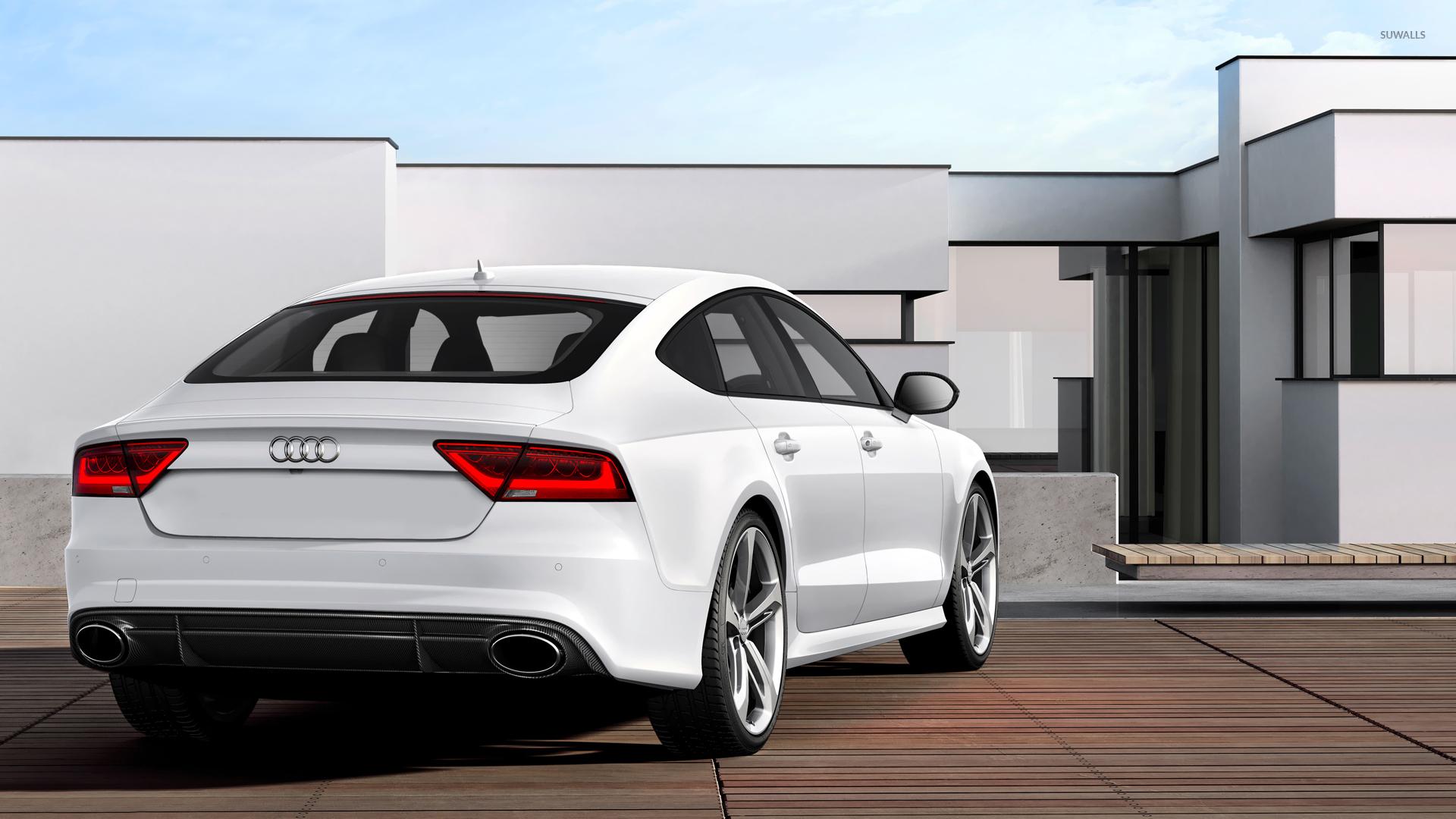 Back View Of A Audi RS Sportback Wallpaper Car Wallpapers - Audi car 4k wallpaper