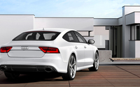 Back view of a 2014 Audi RS7 Sportback wallpaper 1920x1080 jpg