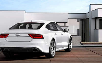 Back view of a 2014 Audi RS7 Sportback wallpaper