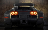 Back view of a Bugatti Veyron with stop lights on wallpaper 1920x1080 jpg