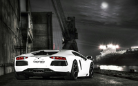 Back view of a Lamborghini Aventador with Capristo Exhaust wallpaper 1920x1200 jpg