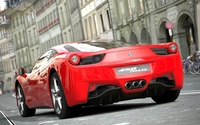 Back view of a red Ferrari 458 Italia wallpaper 1920x1080 jpg