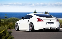 Back view of a white Nissan 370Z wallpaper 1920x1080 jpg