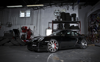 Black 2011 Porsche 911 Carrera in a garage wallpaper 1920x1200 jpg