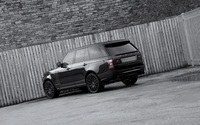 Black 2013 A Kahn Design Land Rover Range Rover back view wallpaper 2560x1600 jpg