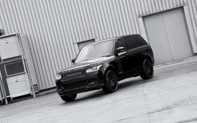 Black 2013 A Kahn Design Land Rover Range Rover front view wallpaper