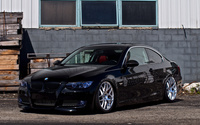 Black BMW 3 Series front side view wallpaper 1920x1200 jpg