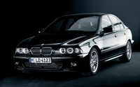 Black BMW 5 Series front side view wallpaper 1920x1200 jpg