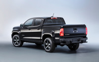 Black Chevrolet Colorado Z71 back side view wallpaper 2560x1600 jpg