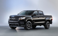 Black Chevrolet Colorado Z71 front side view wallpaper 2560x1600 jpg