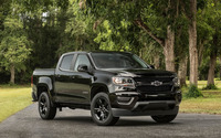 Black Chevrolet Colorado Z71 on the road wallpaper 2560x1600 jpg
