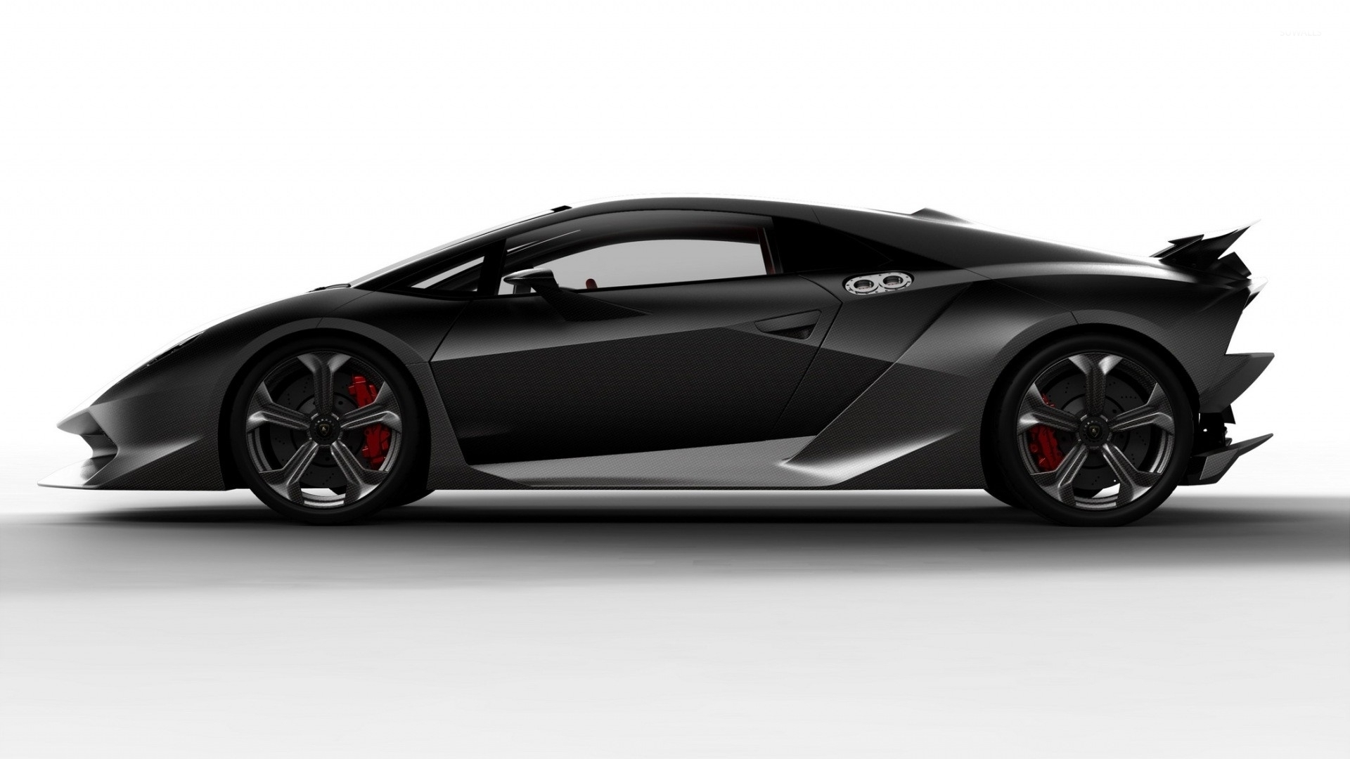 black lamborghini sesto elemento side view wallpaper car wallpapers 53401. Black Bedroom Furniture Sets. Home Design Ideas