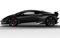 Black Lamborghini Sesto Elemento side view wallpaper 1920x1080 jpg
