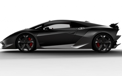 Black Lamborghini Sesto Elemento side view wallpaper