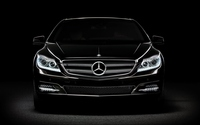 Black Mercedes-Benz in the darkness wallpaper 1920x1200 jpg