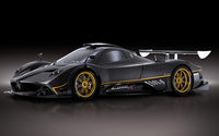 Black Pagani Zonda front side view wallpaper 1920x1080 jpg