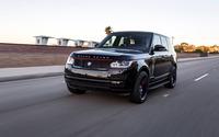 Black STRUT Land Rover Range Rover on the road wallpaper 2560x1600 jpg
